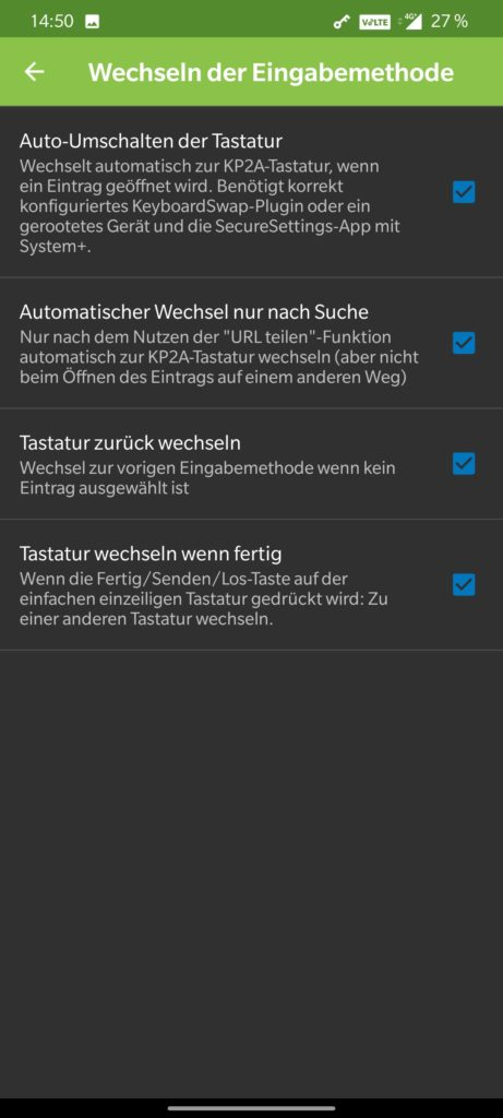 KeePass2Android Settings 3a