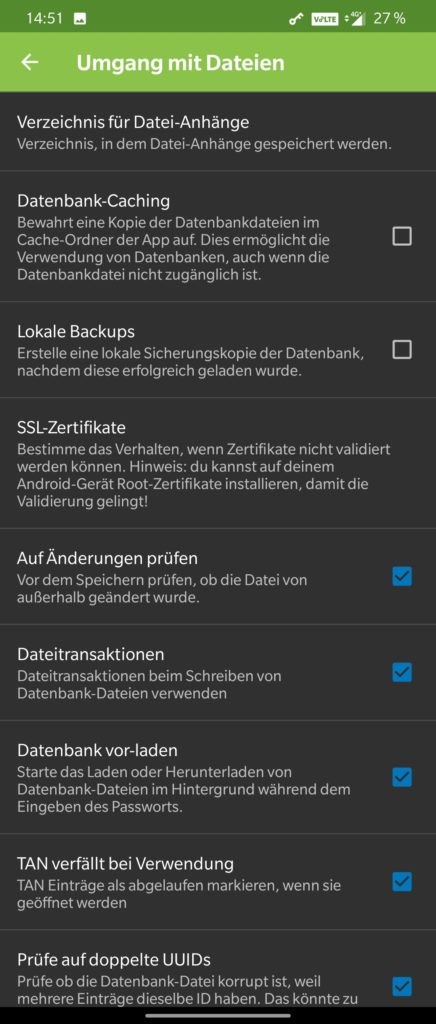 KeePass2Android Settings 5